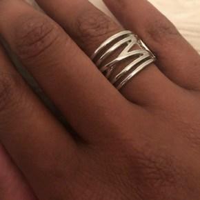 criss cross silver ring