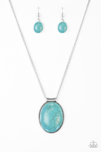 turquoise pendant with turquoise earrings cracked appearance