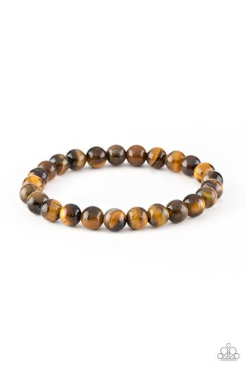 Earthy tiger's eye stones are threaded along a stretchy band for a simply seasonal look. Sold as one individual bracelet.