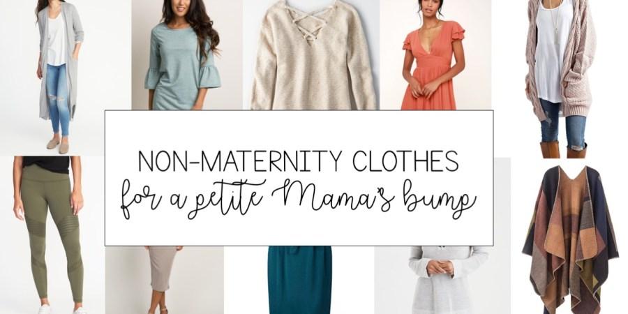Non Maternity Clothes For A Petite Mama S Bump