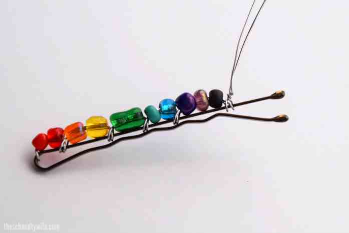 DIY Beaded Bobby Pin - step 10