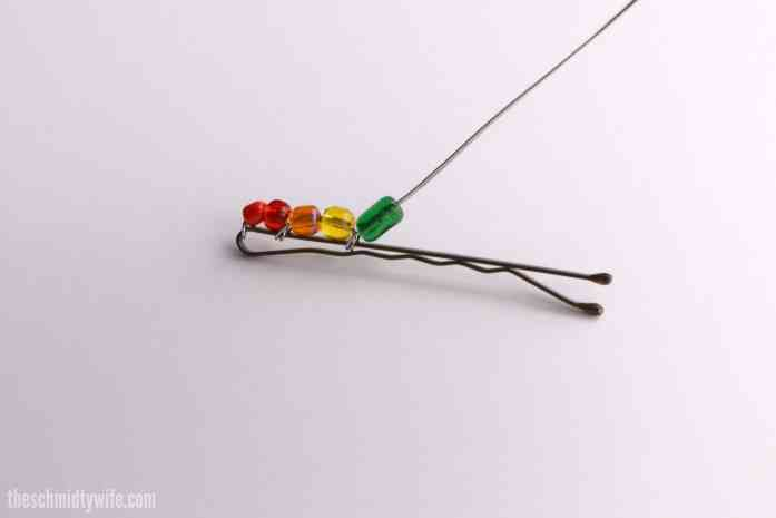 DIY Beaded Bobby Pin - step 8