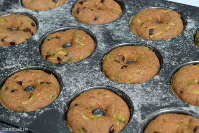 Zucchini Chocolate Chip Baked Donuts