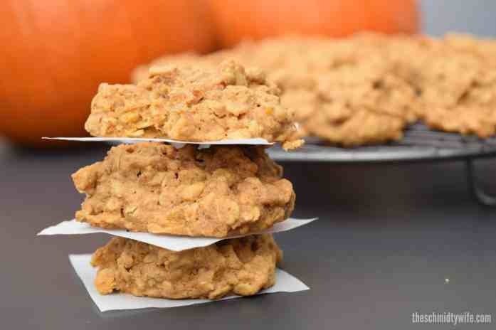 Gluten Free Pumpkin Oatmeal Cookies - The Schmidty Wife