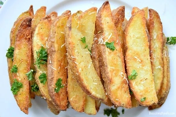 how to cut baked potato wedges