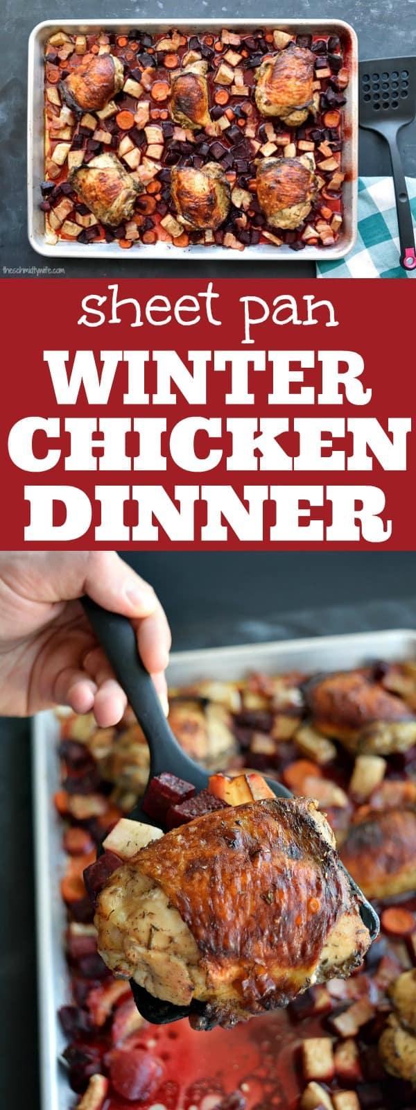 Sheet Pan Winter Chicken Dinner