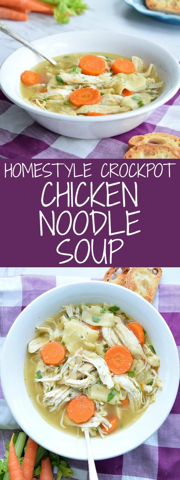 Honestly Crockpot Chicken Noodle Soup