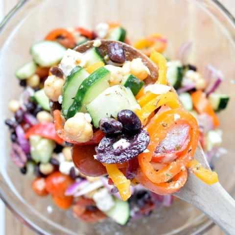 Two Bean Mediterranean Salad