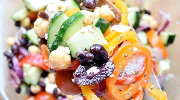 Two Bean Mediterranean Salad