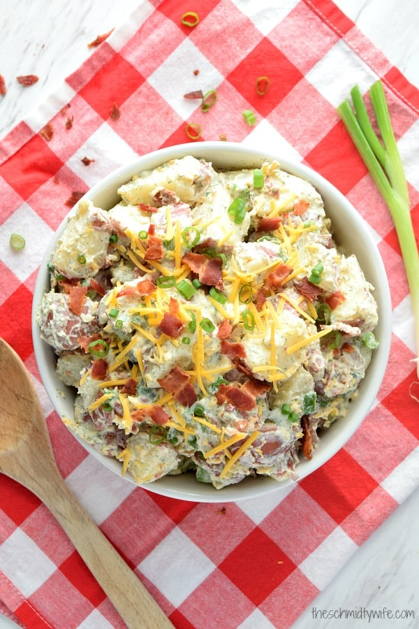 Healthier Bacon Ranch Potato Salad