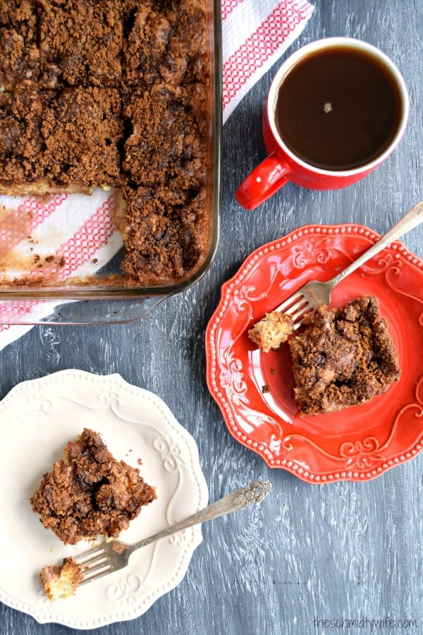 Rhubarb Yogurt Coffee Cake