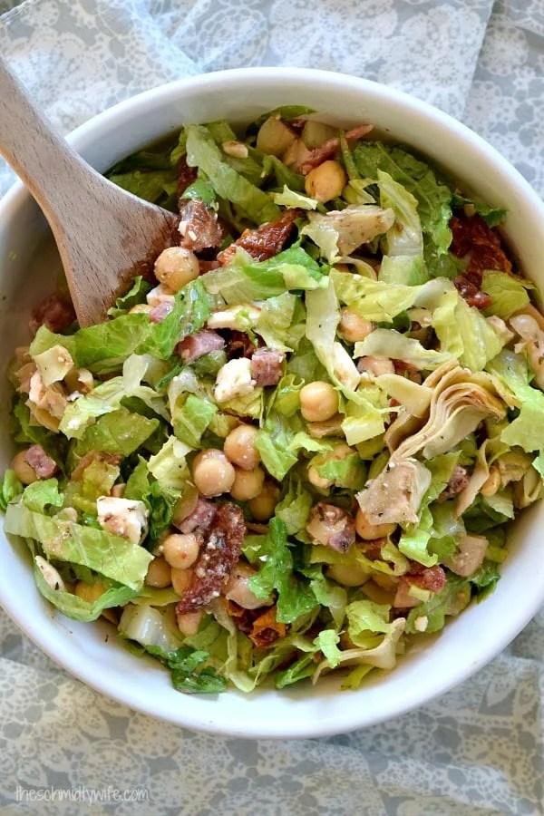 Marinated Chickpea Chopped Salad