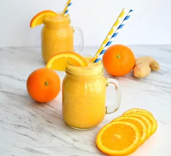 square picture 2 orange ginger smoothies