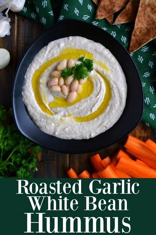 Roasted Garlic White Bean Hummus