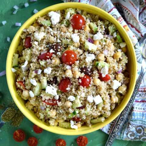 Greek Quinoa Chickpea Salad