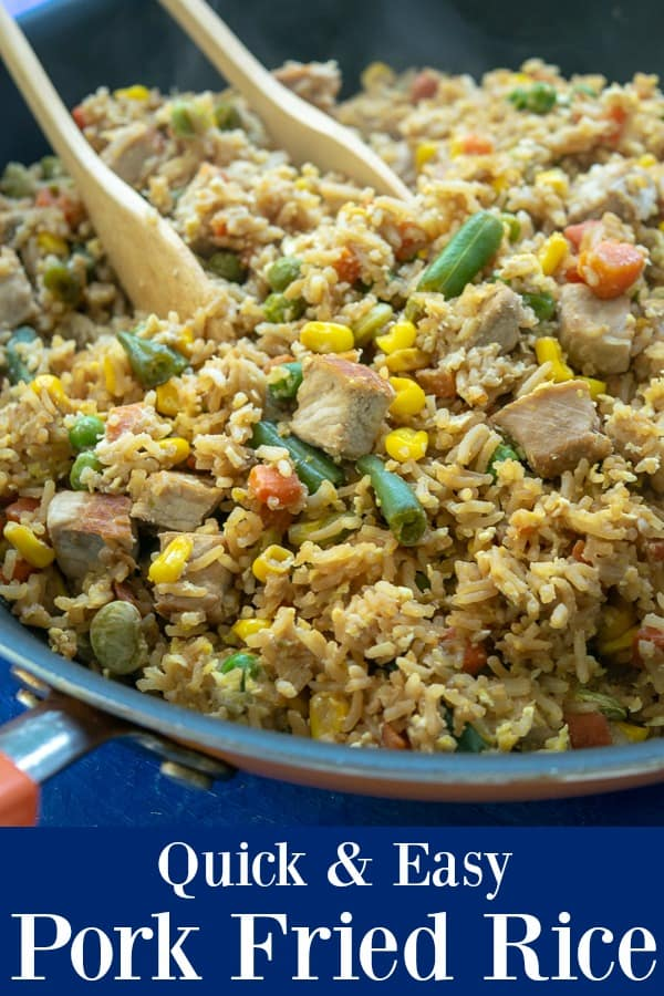 Quick and Easy Pork Fried Rice - a no prep meal option that is healthy and ready to eat in 30 minutes