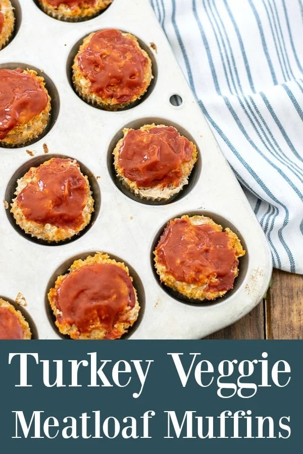 Turkey Veggie Meatloaf Muffins - a healthy vegetable packed gluten-free dinner