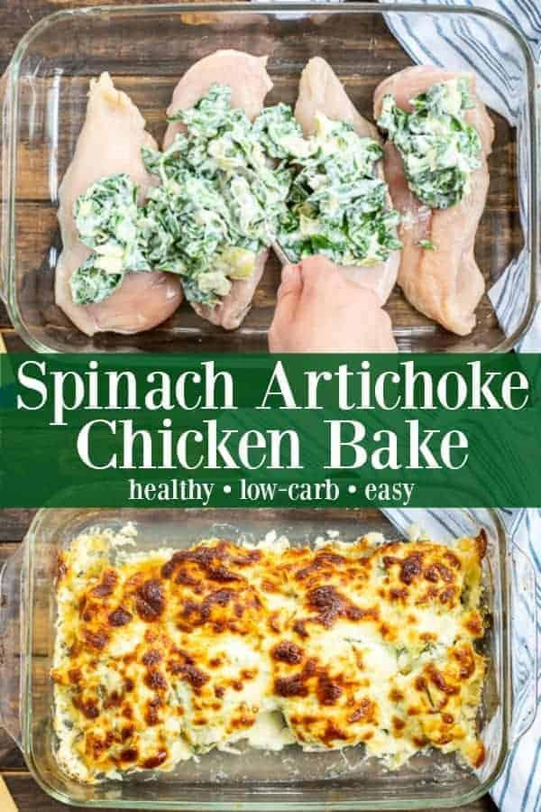 Healthy Spinach Amp Artichoke Chicken Bake The Schmidty Wife