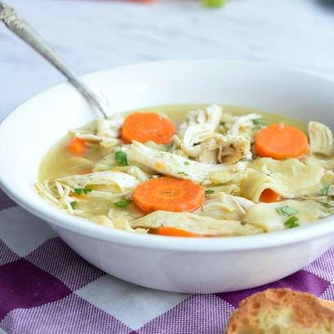 Homestyle Crockpot Chicken Noodle Soup