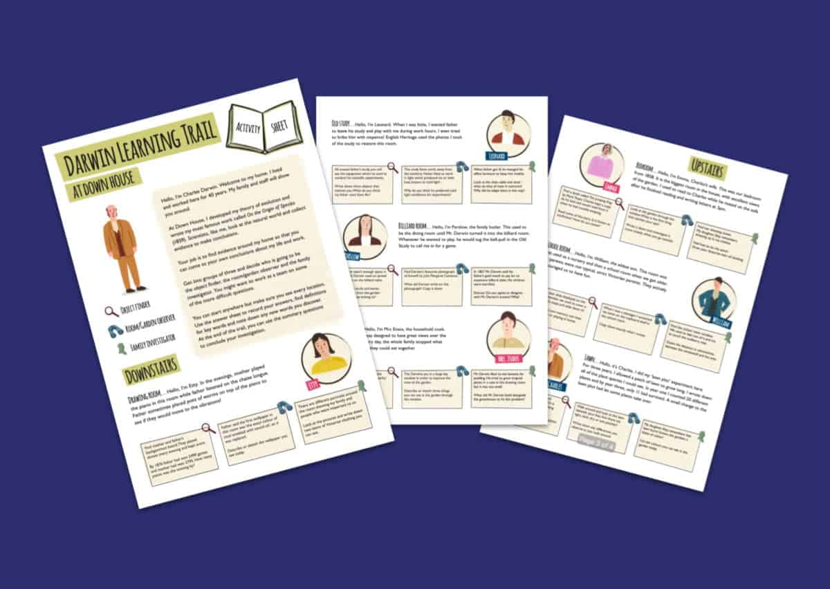 Home Of Charles Darwin Learning Trail Activity Worksheets