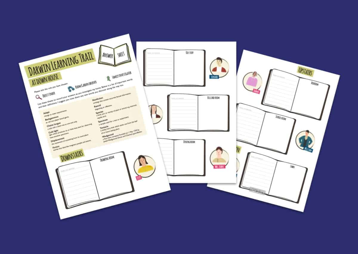 Home Of Charles Darwin Learning Trail Answer Worksheets