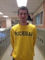 """Type of Runner: Long Distance Most Notable Memory: """"Hanging out with all of my teammates and enjoying the outdoors."""" Plans: University of Michigan, possible running for club Stat: Ran a 16:20 5000m/3.11 miles According to MIPrepZone"""