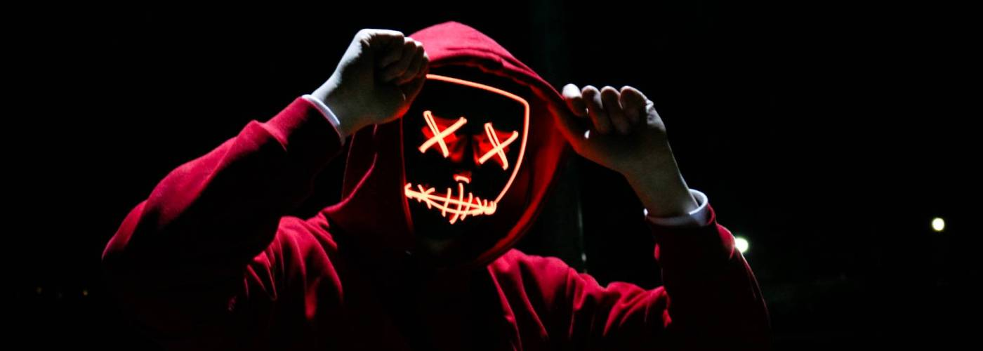 person wearing red hoodie
