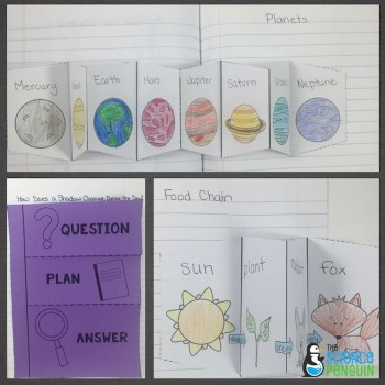 Science Interactive Notebook templates for 1st grade and 2nd grade
