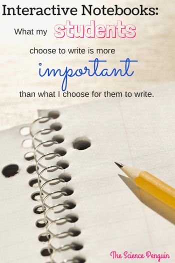 What my students choose to write is more important than what I choose for them to write.