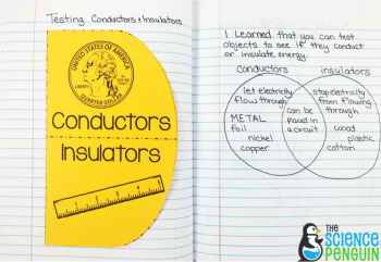 Forms of Energy Notebook Pics: electrical conductors and insulators