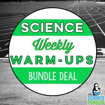 Science Weekly Warm-ups Bundle