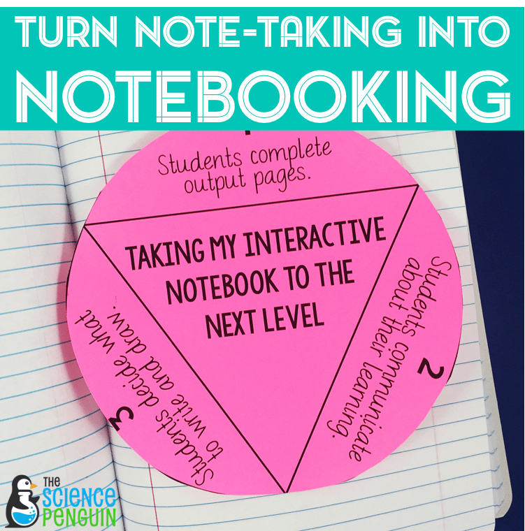 3 Ways to Turn Note-Taking into Notebooking with Interactive Science Notebooks