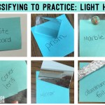 Science Vocabulary Ideas: Classify to Practice with Reflection and Refraction