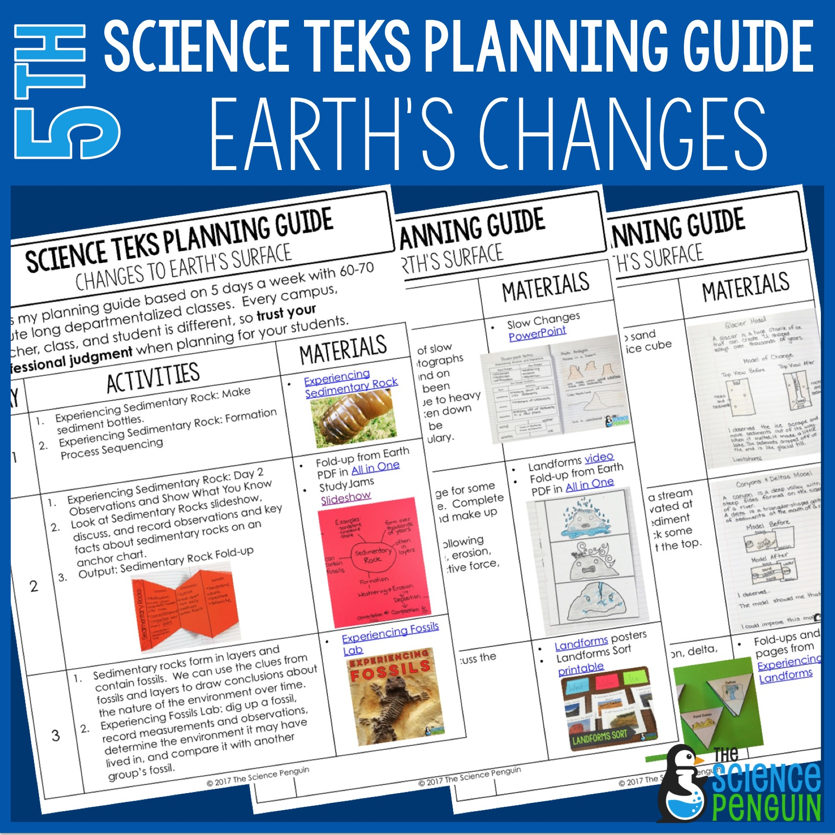 Changes To Earth S Surface 5th Grade Teks Planning Guide