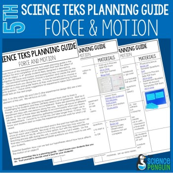 Force and Motion 5th Grade TEKS Planning Guide