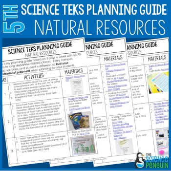 5th Grade Science TEKS Planning Guide: Natural Resources