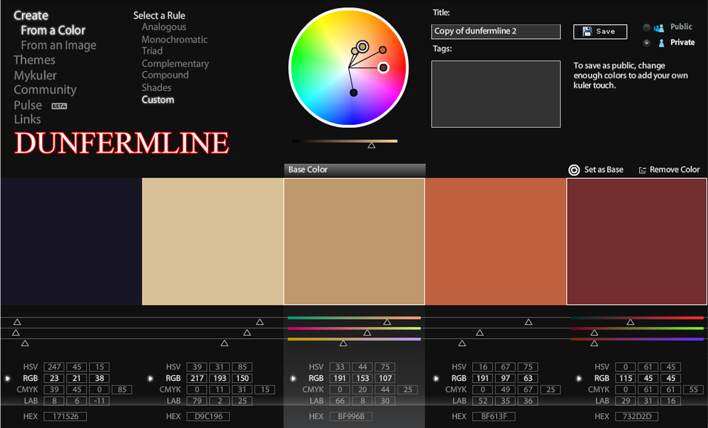 Production Project Worksheet 3 Colour Palettes Using Adobe Kuler