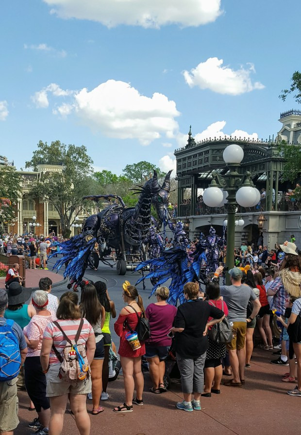 Maleficent dragon in Disney World parade