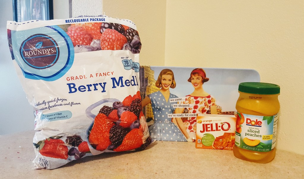 Ingredients for vintage Jell-O recipe