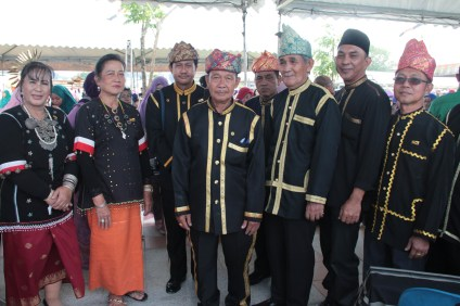 Members of the Bisaya ethnic group pose in their traditional dress at the opening of Taman Mahkota Jubli Emas. Photo: Rasidah Hj Abu Bakar/The Scoop