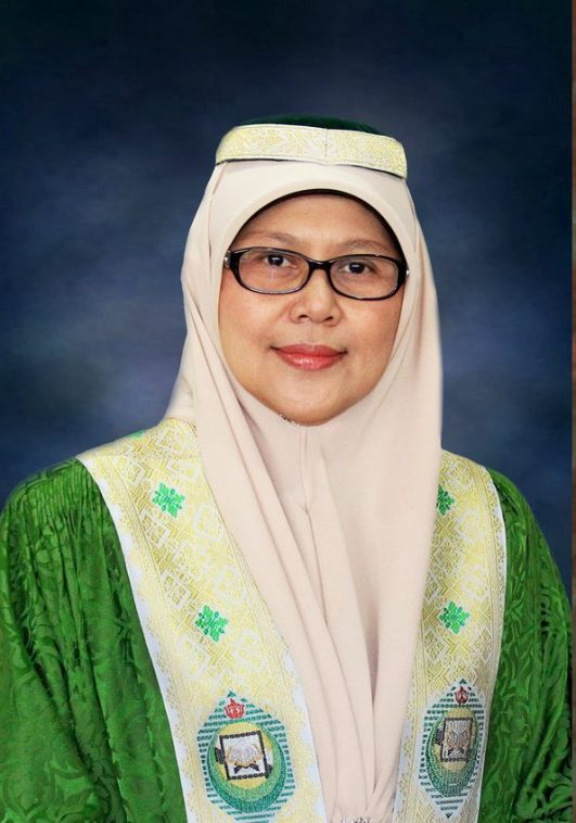 Datin Dr Hjh Romaizah, the new Deputy Minister of Education. Photo via UNISSA