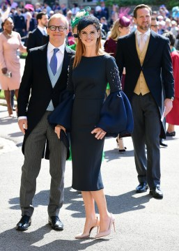 'Suits' actress Sarah Rafferty arrives at St George's Chapel. Photo via Twitter