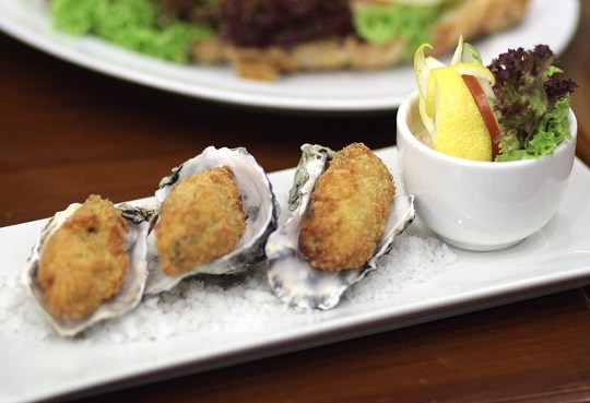 Deep fried oysters at Goldiana Cafe. Photo: Saifulizam Zamhor/The Scoop