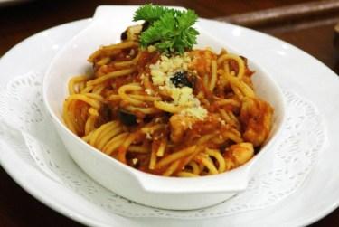 Sambal spaghetti. Photo: Saifulizam Zamhor/The Scoop