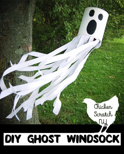 Tin Can Ghost Windsock