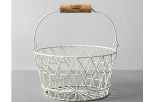 Decorative Wire Basket - White - Hearth & Hand™ with Magnolia from Target