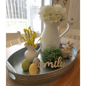 Farmhouse Style White Pitcher Home Decor