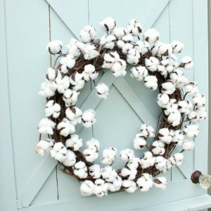 Cotton Grapevine Wreath for Front Door