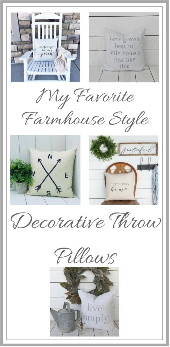 5 Favorite Farmhouse Style Decorative Throw Pillows-The Scoop for Mommies