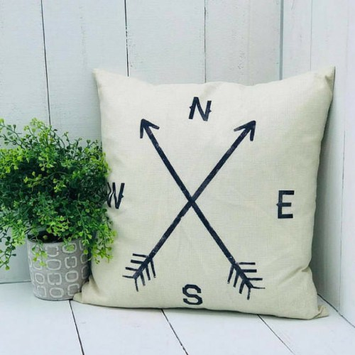 Longitude, Latitude, Farmhouse Pillow-The Scoop for Mommies